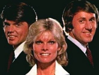 That's Incredible! - John Davidson (left), Cathy Lee Crosby (middle), and Fran Tarkenton (right); from ABC promotional photography.