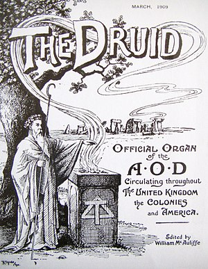 Ancient Order of Druids - The March 1909 edition of The Druid, the magazine published by the Ancient Order of Druids.