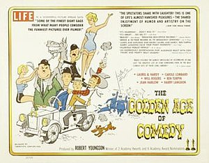 The Golden Age of Comedy - Theatrical release poster designed by Tom Jung