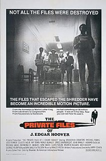 <i>The Private Files of J. Edgar Hoover</i> 1977 film by Larry Cohen