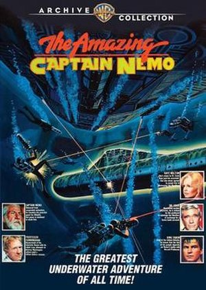 The Return of Captain Nemo - DVD cover bearing the film's theatrical title: The Amazing Captain Nemo