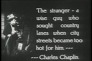 Tillie's Punctured Romance (1914 film) - Description of Charlie Chaplin's character