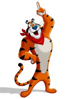 Tony the Tiger American advertising cartoon mascot