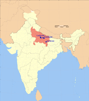 2007 Uttar Pradesh bombings - Three cities of Uttar Pradesh where bombs were planted