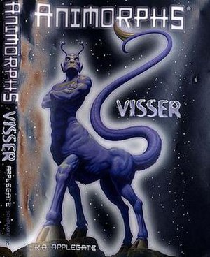 Visser (novel) - Visser Three on the front cover. On the back cover: Visser Three in the same pose and place, as seen from behind.