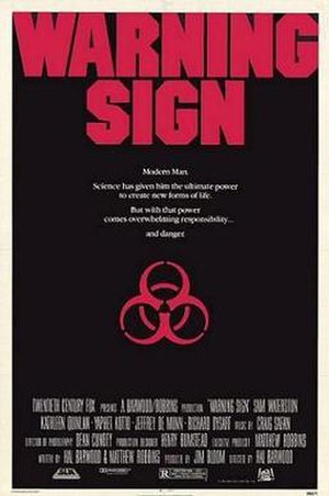 Warning Sign (film) - Theatrical release poster