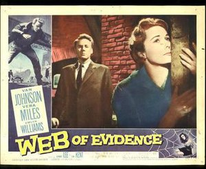 Beyond This Place (1959 film) - Image: Web of Evidence lobby card