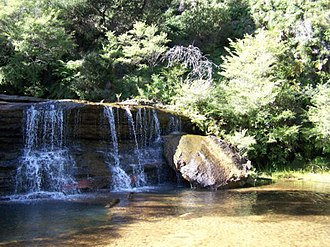 Wentworth Falls, New South Wales - Image: Wentworthfallsupperc ascades