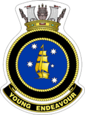 STS Young Endeavour - Ship's badge