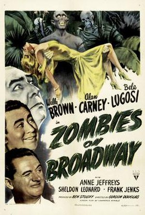 Zombies on Broadway - Theatrical release poster