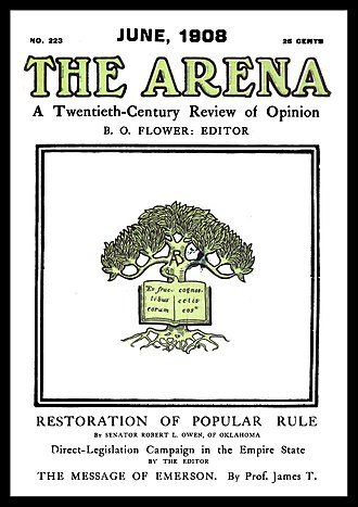 The Arena (magazine) - Pictorial cover of a later issue of The Arena.