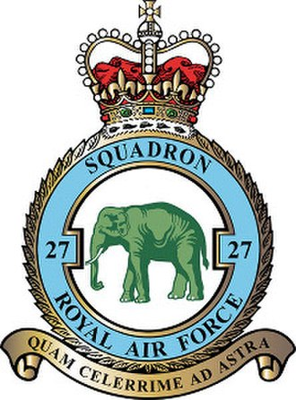 No. 27 Squadron RAF - 27 Squadron badge