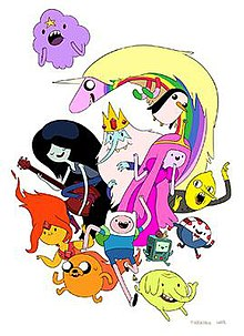 The main cast of Adventure Time , drawn by former lead character ...