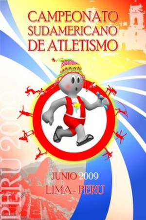 2009 South American Championships in Athletics - Image: Afiche del sudamericano lima 2009