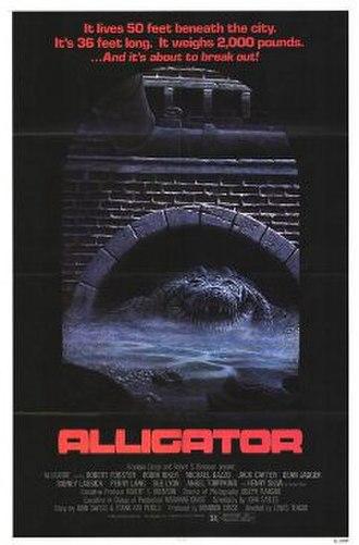 Alligator (film) - theatrical release poster