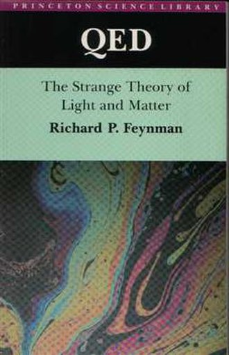 QED: The Strange Theory of Light and Matter - The first edition cover featured an iridescent soap bubble, an example of the phenomenon of interference.