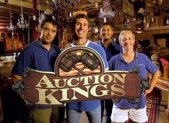 Auction Kings - Logo and cast of Auction Kings