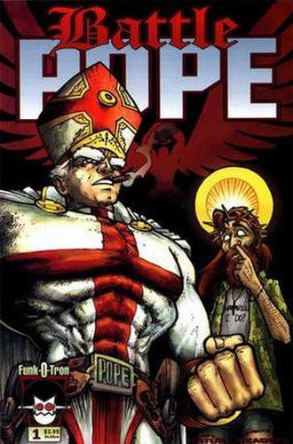Battle Pope - Cover of the first issue