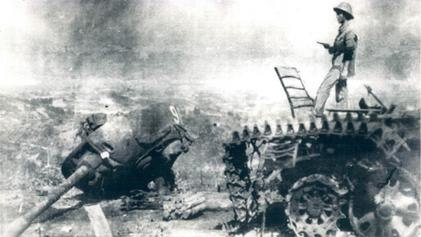 Chinese tank destroyed in Cao Bang 1979
