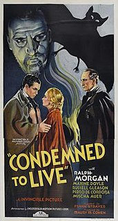 <i>Condemned to Live</i> 1935 film by Frank R. Strayer