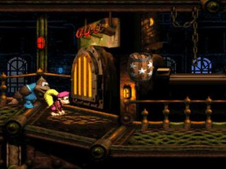 Donkey Kong Country 3: Dixie Kong's Double Trouble! - Image: Donkey Kong Country 3 gameplay