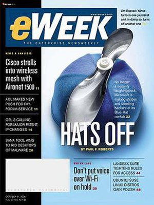 EWeek - Image: E Week Cover