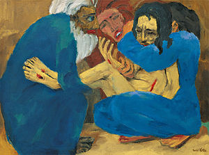 Emil Nolde - The Burial (Die Grablegung), 1915, oil on canvas, 87 x 117 cm, Stiftung Nolde, Seebüll, Nasjonalmuseet, National Museum of Art, Architecture and Design, Norway