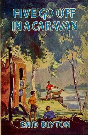 Five Go Off in a Caravan - Original 1946 first edition cover