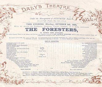 The Foresters - Cast list of 1893 London production