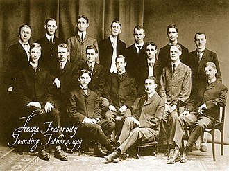 Acacia (fraternity) - The founding members of the Acacia fraternity