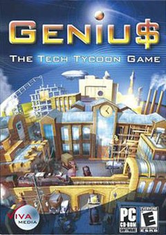 Geniu$: the tech tycoon game on qwant games.