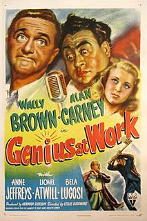 <i>Genius at Work</i> 1946 film by Leslie Goodwins