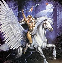 Goldmoon riding her pegasus.jpg