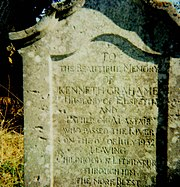 Kenneth Grahame's grave stone.