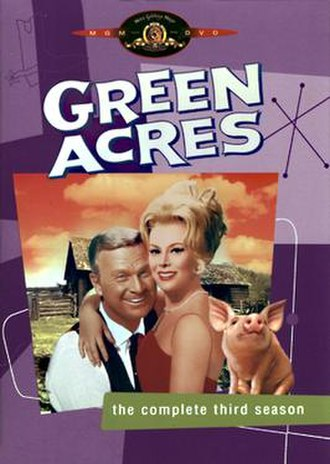 Green Acres - Oliver, Lisa and Arnold on a Season 3 DVD cover