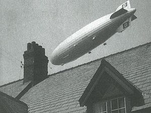 Barrow Blitz - The Hindenburg Zeppelin flying over Walney Island in 1936.