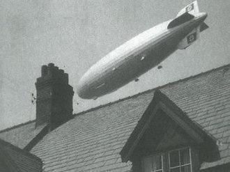 Barrow Blitz - The Hindenburg Zeppelin flying over Walney Island in 1936.