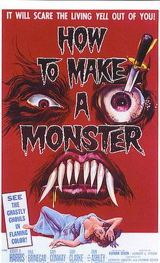 How to Make a Monster (1958 film) - Theatrical release poster by Reynold Brown