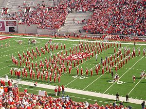 "Indiana University Marching Hundred - The ""Monogram IU."""