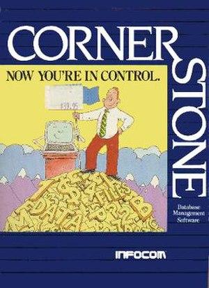 Cornerstone (software) - Image: Infocom Cornerstone box art