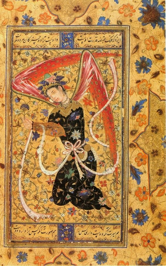 Islamic angel, persian miniature