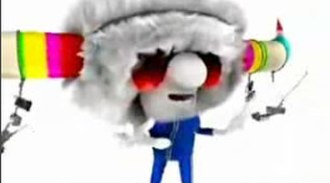 "Jamiroquai - The animated Buffalo Man as he appears in the ""(Don't) Give Hate a Chance"" music video."