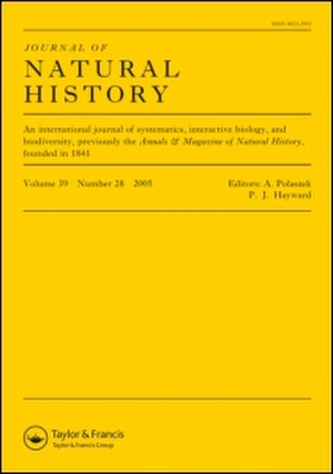 Journal of Natural History - Image: Journal of Natural History
