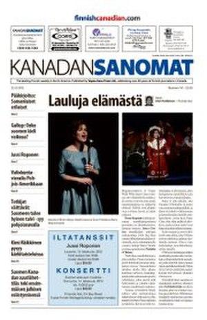 Kanadan Sanomat - Image: Kanadan sanomat newspaper