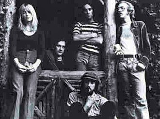 Fleetwood Mac - 1973 line-up with Christine McVie, Mick Fleetwood, Bob Weston, John McVie, and Bob Welch.