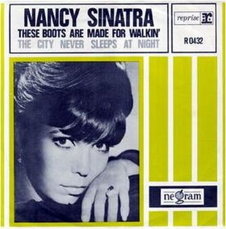These Boots Are Made for Walkin' - Image: Nancy Sinatra single cover These Boots Are Made for Walkin