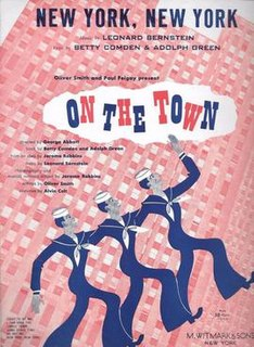 New York, New York (<i>On the Town</i>) 1944 song composed by Leonard Bernstein