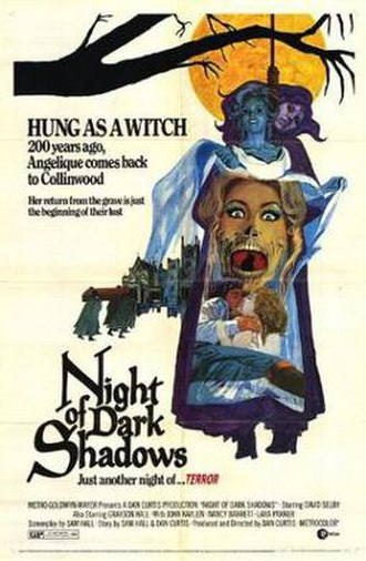 Night of Dark Shadows - Promotional film poster