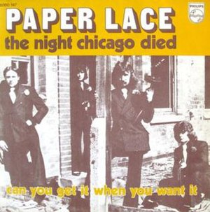 The Night Chicago Died - Image: Paper Lace Night Chicago Died