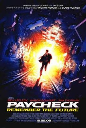 Paycheck (film) - Theatrical release poster